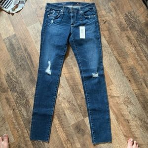 AG Legging Super Skinny Jeans- Interim Destroyed
